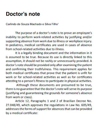 printable doctors note for work