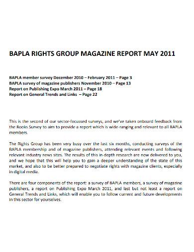 printable magazine report