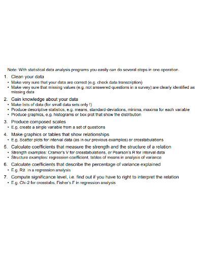 printable quantitative data analysis