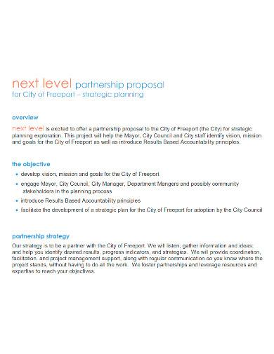 printable strategic partnership proposal