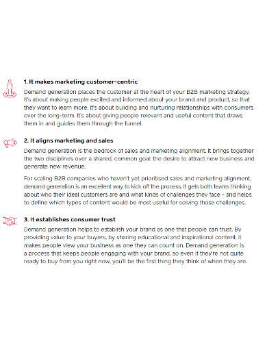professional b2b lead generation proposal
