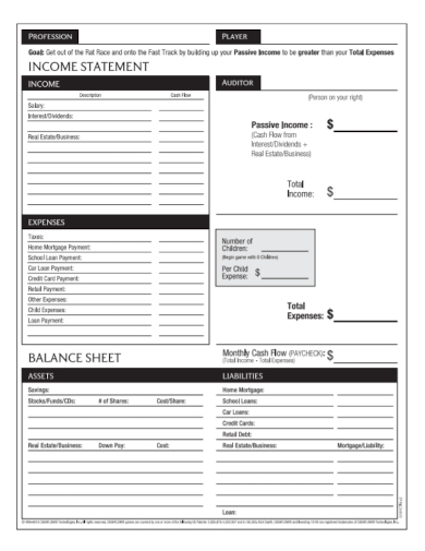 professional income statement and balance sheet sample