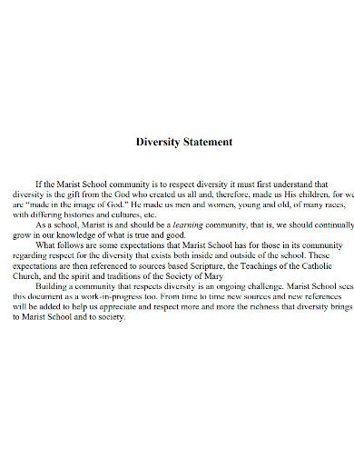 professional law school diversity statement