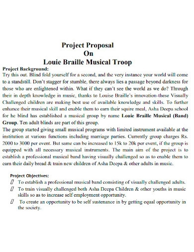 professional music project proposals