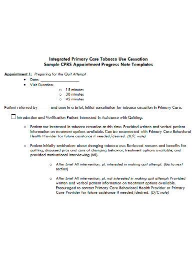 professional patient progress note