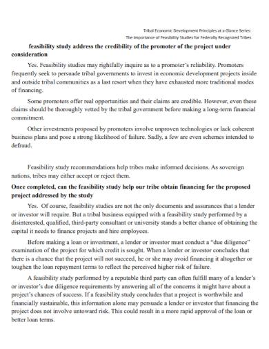 project development feasibility study