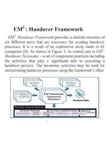 project handover framework
