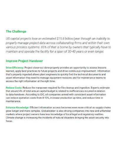project handover process