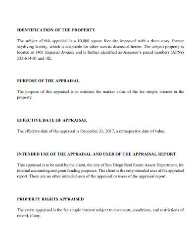 property appraisal report