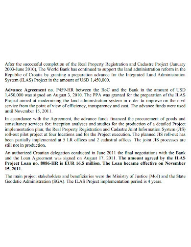 property project implementation report