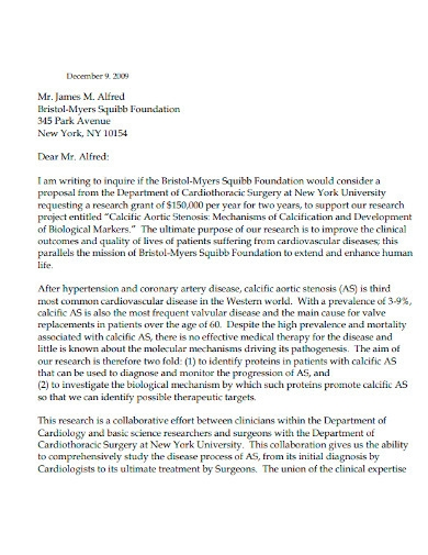 proposal letter for funding support