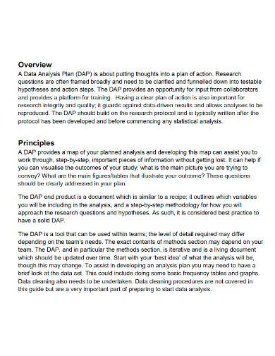 quantitative data analysis plan