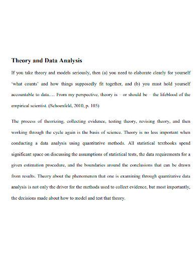 quantitative data analysis theory