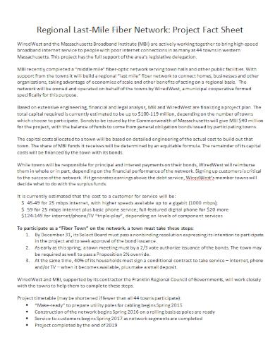regional network project fact sheet