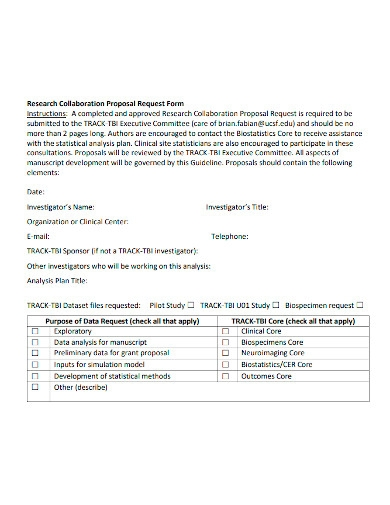 research collaboration proposal form