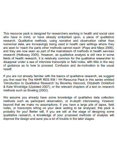 research qualitative data analysis