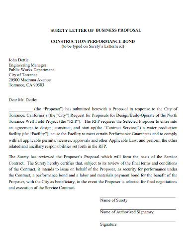 sample construction proposal letter