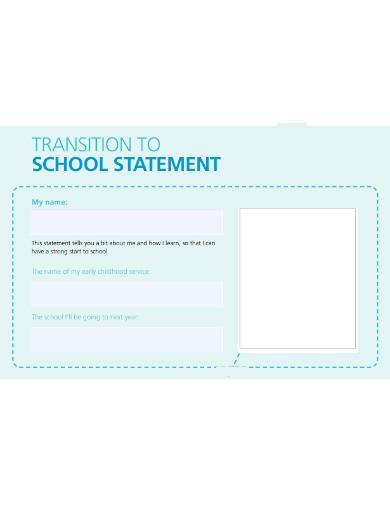 school transition statement