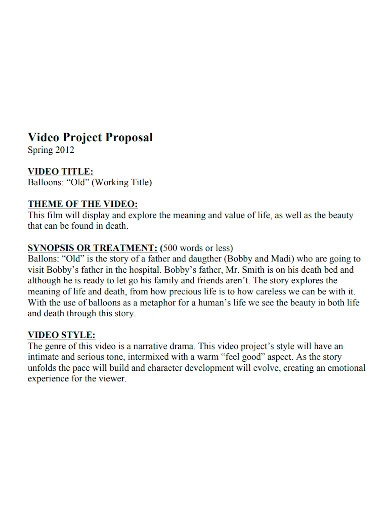 short film project proposal