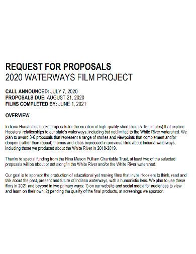 short film request proposal