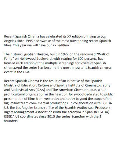 short film sponsorship proposal