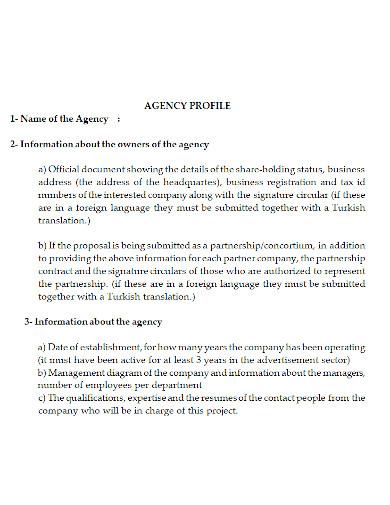 standard agency profile