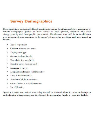 standard community survey report