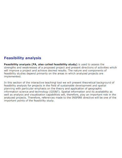 standard feasibility analysis