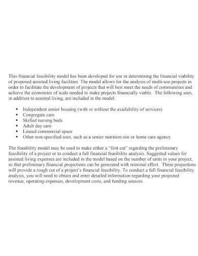 standard financial feasibility analysis