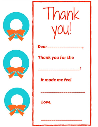 standard kids thank you note