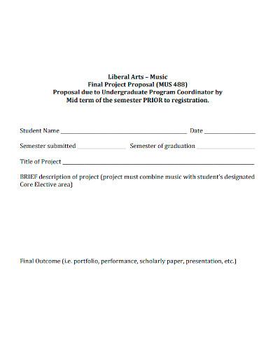 standard music project proposal