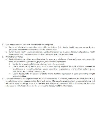 standard psychotherapy progress note