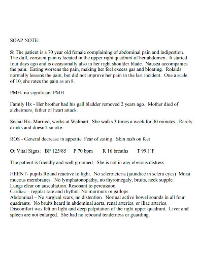 standard soap note