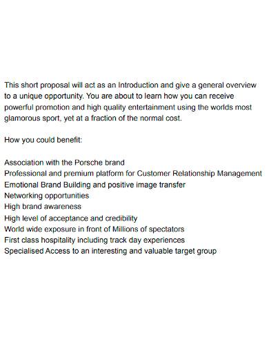 standard strategic partnership proposal