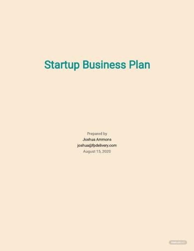startup business plan templates