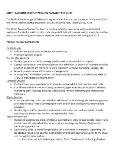 startup package factsheet