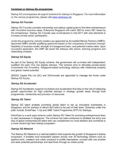 startup programme factsheet