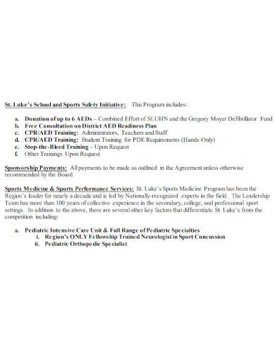 strategic sports medicine partnership proposal