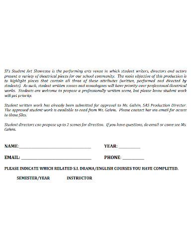 student drama director proposal