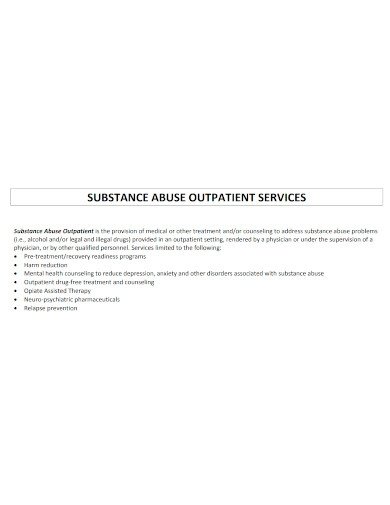 substance abuse outpatient discharge plan