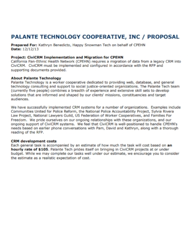 technology cooperative proposal
