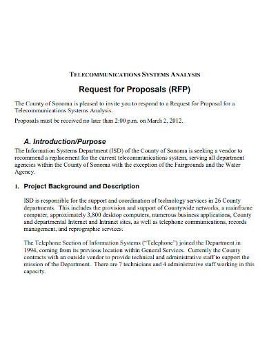 telecommunications analysis proposal