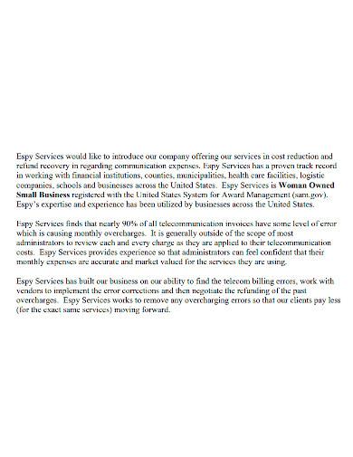 telecommunications auditing proposal