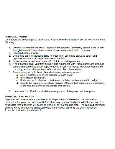 telecommunications improvement proposal