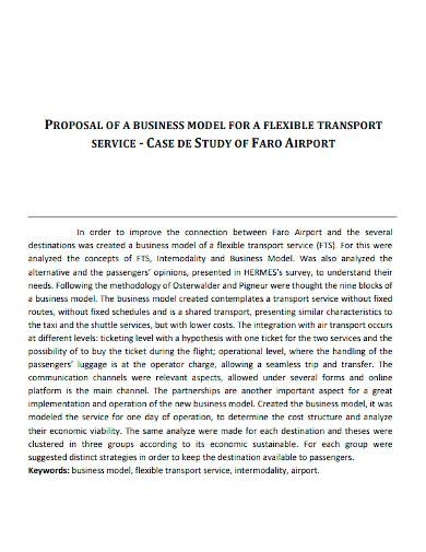 transport business proposal sample