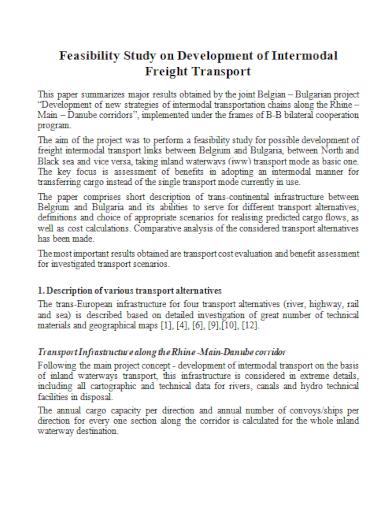 transport development feasibility study