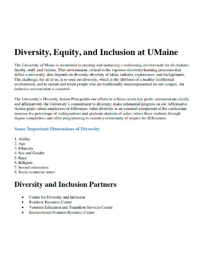university diversity equity and inclusion statement
