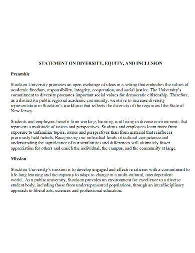 university equity mission statement