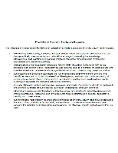 university equity statement and principles