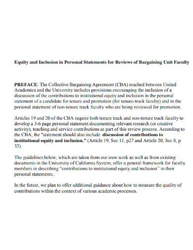 university equity statements